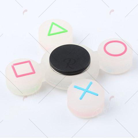 Best Mathematical Symbol Quad-bar Silicone Fidget Spinner Fiddle Toy - WHITE  Mobile