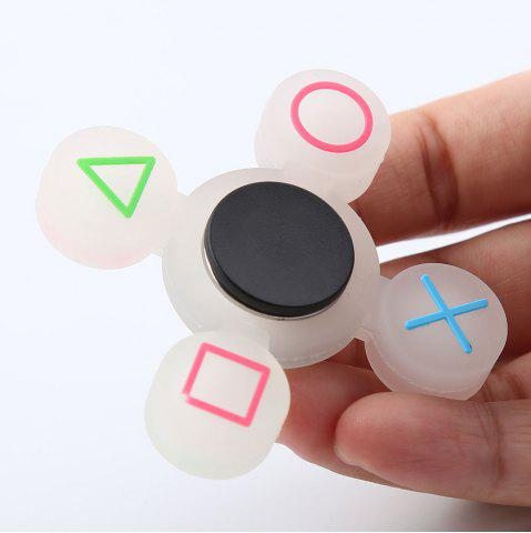 Discount Mathematical Symbol Quad-bar Silicone Fidget Spinner Fiddle Toy WHITE
