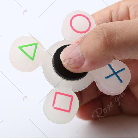 Affordable Mathematical Symbol Quad-bar Silicone Fidget Spinner Fiddle Toy - WHITE  Mobile