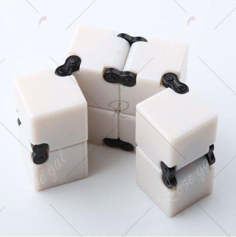 Outfit Anti-stress Relax Fidget Toy EDC Plastic Infinity Cube - WHITE  Mobile