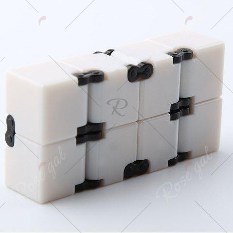 Affordable Anti-stress Relax Fidget Toy EDC Plastic Infinity Cube - WHITE  Mobile