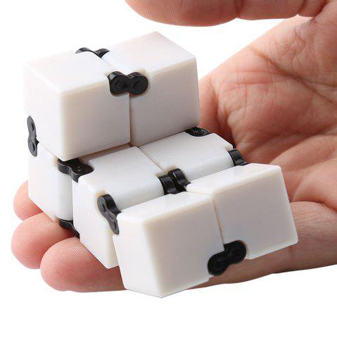New Anti-stress Relax Fidget Toy EDC Plastic Infinity Cube - WHITE  Mobile