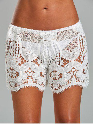 Shops Crochet Lace Swimsuit Cover Up Shorts