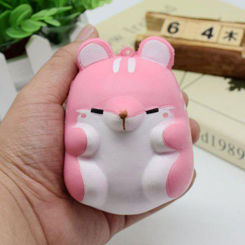 Simulation Hamster Slow Rising Squishy Toy ROSE PÂLE