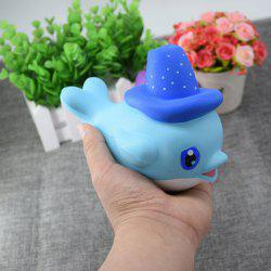 Cartoon Squishy Toy Scented Simulation Magic Hat Dolphin - BLUE