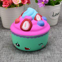 Simulation Toy Ice Cream Cup Slow Rising Squishy Food - GREEN
