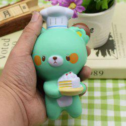 Simulation Kitchener Bear Slow Rising Squishy Toy - GREEN