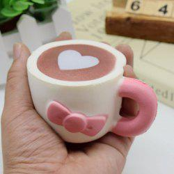 Slow Rising Squishy Toy Heart Bowknot Simulation Mug - PINK