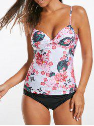 Cami Floral Underwire Push Up Tankini Bathing Suit - FLORAL