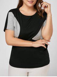 Plus Size Colorblock Basic T-shirt