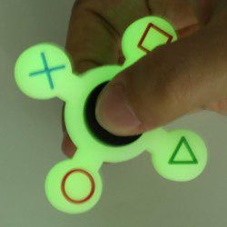Mathematical Symbol Quad-bar Silicone Fidget Spinner Fiddle Toy - LUMINOUS GREEN