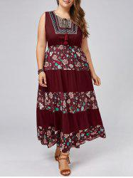 Maxi Floral Plus Size A Line Flowy Dress