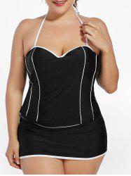 Padded Underwire Halter Plus Size Tankini