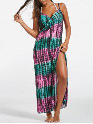 Illusion Print Wrap Cover Up Dress -