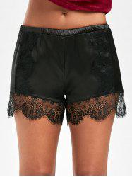 Lace Trim Satin Swimming Shorts -