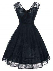 Vintage Bowknot Lace Fit et Flare Dress -