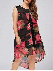 Plus Size Floral High Low Dress