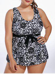 Plus Size Paisley Tankini Set