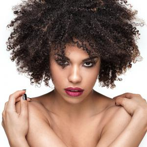 Shaggy Short Afro Kinky Curly Colormix Synthetic Wig