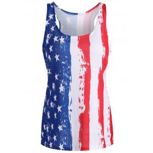 Patriotic American Flag Tank Top