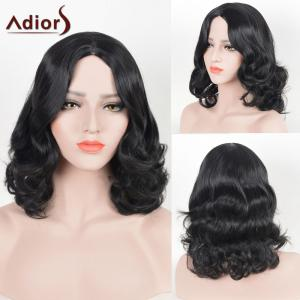 Adiors Center Part Medium Shaggy Wavy Synthetic Wig