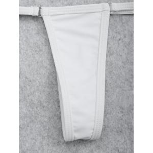 String T-Back Thong Swim Panties - Blanc TAILLE MOYENNE