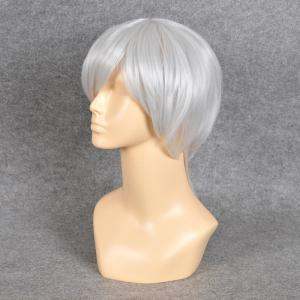 Neon Genesis Evangelion Cosplay Side Bang Short Straight Synthetic Wig - SILVER WHITE
