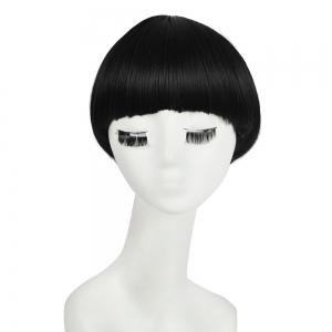 Neat Bang Short Straight Bowl Cut Mushroom Head Synthetic Wig
