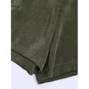 Casual Elastic Waist Self Tie Shorts - ARMY GREEN XL