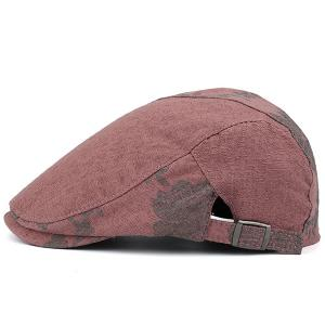 Adjustable Leaf Pattern Embellish Newsboy Cap -