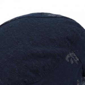 Adjustable Leaf Pattern Embellish Newsboy Cap - CADETBLUE