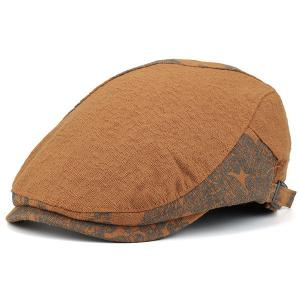 Adjustable Leaf Pattern Embellish Newsboy Cap - Ginger - 42