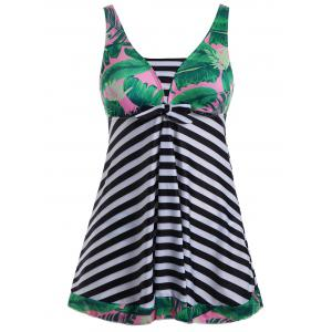Striped Plus Size Padded Bathing Suit