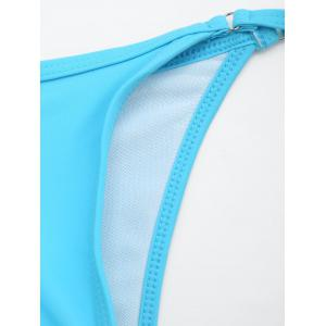 Tie Side String Swimming Thong Panties - LIGHT BLUE ONE SIZE