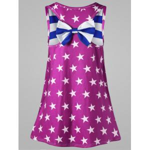 Plus Size Bowknot Embellished American Flag Tank Top -