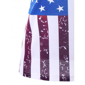 Plus Size Lace Panel American Flag T-shirt -
