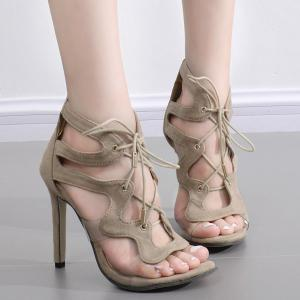 Tie Up Transparent Plastic Sandals