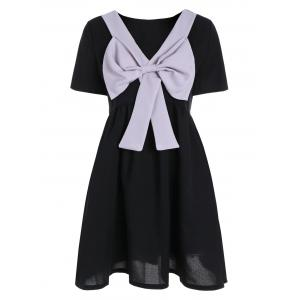 Convertible Mini Bowknot Skater Dress