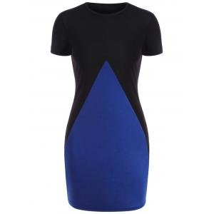 Two Tone Mini Fitted Dress