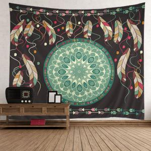 Home Decor Mandala Feather Arrows Print Tapestry