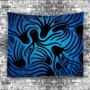 Home Decor Octopus Wall Hanging Tapestry - Bleu Largeur51pouces*Longeur59pouces