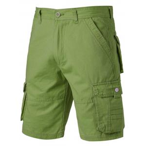 Applique Zipper Fly Pockets Design Cargo Shorts