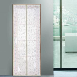 Summer Anti Insect Mesh Breathable Magnetic Door Curtain - Beige - 100*210cm