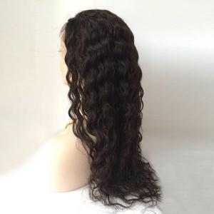 Free Part Long Shaggy Deep Wave Lace Front Human Hair Wig - BLACK