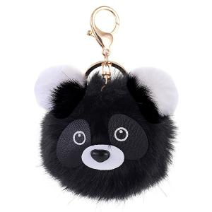 Cartoon Bear Fuzzy Puff Ball Keychain