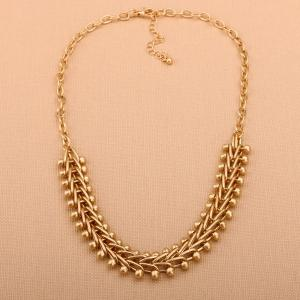 Alloy Braid Statement Chain Necklace