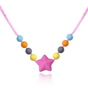 Silicone Beaded Star Necklace