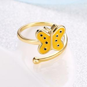 Butterfly Shaped Cuff Ring - GOLDEN