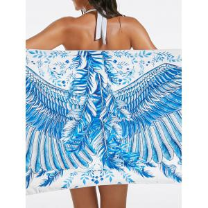 Feather Print Beach Throw