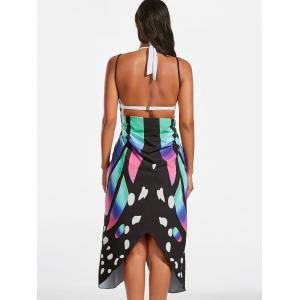 Butterfly Beach Wrap Cover Up Dress - COLORMIX 2XL